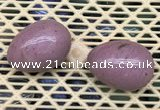 CDN344 35*50mm egg-shaped pink wooden fossil jasper decorations