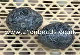 CDN347 35*50mm egg-shaped fossil jasper decorations wholesale