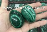 CDN38 32*50mm - 35*53mm egg-shaped natural malachite decorations