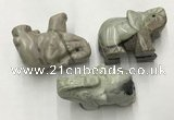 CDN409 25*50*35mm elephant picasso jasper decorations wholesale
