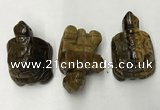 CDN443 28*45*22mm turtle yellow tiger eye decorations wholesale