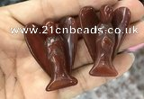 CDN477 30*40mm angel red agate decorations wholesale