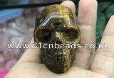 CDN559 35*50*40mm skull yellow tiger eye decorations wholesale