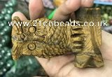 CDN587 50*80mm owl yellow tiger eye decorations wholesale