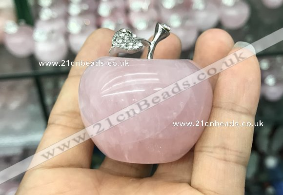 CDN596 32*45mm apple rose quartz decorations wholesale
