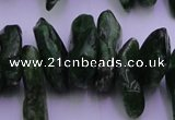 CDP73 15.5 inches 8*22mm - 12*28mm diopside chips gemstone beads
