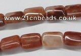 CDQ22 15.5 inches 13*18mm rectangle natural red quartz beads wholesale
