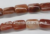 CDQ23 15.5 inches 15*20mm rectangle natural red quartz beads wholesale