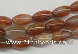 CDQ43 15.5 inches 7*13mm rice natural red quartz beads wholesale