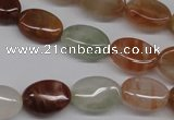 CDQ51 15.5 inches 10*14mm oval natural red quartz beads wholesale