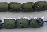 CDQ612 8 inches 6*8mm drum druzy quartz beads wholesale