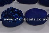 CDQ716 8 inches 13*18mm oval druzy quartz beads wholesale