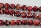 CDT821 15.5 inches 6mm round dyed aqua terra jasper beads wholesale