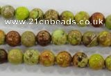 CDT861 15.5 inches 6mm round dyed aqua terra jasper beads wholesale