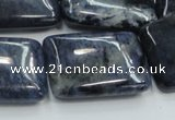 CDU04 15.5 inches 22*32mm rectangle natural blue dumortierite beads