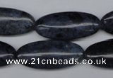 CDU130 15.5 inches 13*30mm marquise blue dumortierite beads