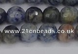 CDU311 15.5 inches 10mm faceted round blue dumortierite beads