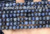 CDU351 15.5 inches 6mm round blue dumortierite beads wholesale
