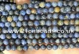 CDU361 15.5 inches 6mm round sunset dumortierite beads wholesale