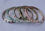 CEB03 5pcs 7mm width gold plated alloy with enamel bangles wholesale