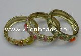 CEB153 17mm width gold plated alloy with enamel bangles wholesale