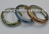CEB154 15mm width gold plated alloy with enamel bangles wholesale
