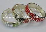 CEB163 20mm width gold plated alloy with enamel bangles wholesale