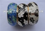 CEB21 5pcs 32mm width gold plated alloy with rhinestone & enamel bangles