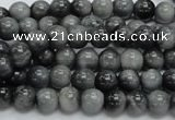 CEE03 15.5 inches 7mm round eagle eye jasper beads wholesale