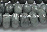 CEE26 15.5 inches 10*18mm faceted rondelle eagle eye jasper beads