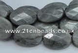 CEE54 15.5 inches 15*20mm faceted oval eagle eye jasper beads