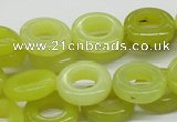 CEJ08 15.5 inches 8*16mm donut lemon jade beads wholesale