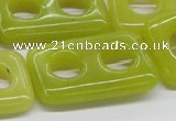 CEJ11 15.5 inches 25*40mm rectangle lemon jade beads wholesale