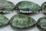 CEM09 15.5 inches 23*30mm flat teardrop emerald gemstone beads