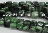 CEP12 15.5 inches 8*8mm square epidote gemstone beads wholesale