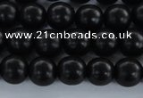 CEY02 15.5 inches 6mm round black ebony wood beads wholesale