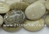 CFA11 15.5 inches 18*25mm oval chrysanthemum agate gemstone beads