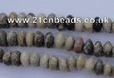 CFA201 15.5 inches 5*8mm rondelle chrysanthemum agate beads