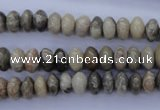 CFA202 15.5 inches 5*10mm rondelle chrysanthemum agate beads