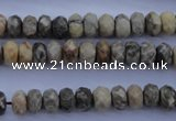 CFA209 15.5 inches 5*8mm faceted rondelle chrysanthemum agate beads