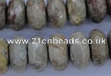 CFA214 15.5 inches 10*20mm faceted rondelle chrysanthemum agate beads