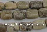 CFA220 15.5 inches 10*14mm rectangle chrysanthemum agate beads