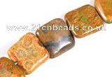 CFC08 15.5 inches 16mm square fossil coral  beads Wholesale