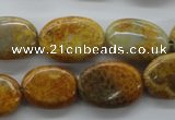 CFC107 15.5 inches 12*16mm oval fossil coral beads wholesale