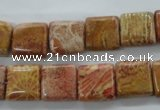 CFC113 15.5 inches 12*12mm square fossil coral beads wholesale