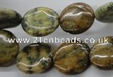 CFC124 15.5 inches 16mm flat round fossil coral beads wholesale
