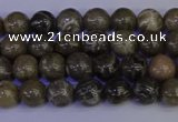 CFC210 15.5 inches 4mm round grey fossil coral beads wholesale
