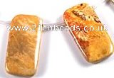 CFC29 15.5 inch 20*40mm rectangle fossil coral  beads Wholesale