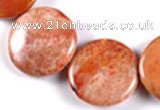 CFC45 15 inches 30mm coin  fossil coral beads Wholesale