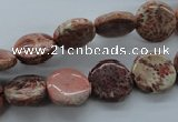 CFC79 15.5 inches 12mm flat round fossil coral beads wholesale